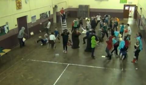 Scout group recreates international Harlem Shake dance craze