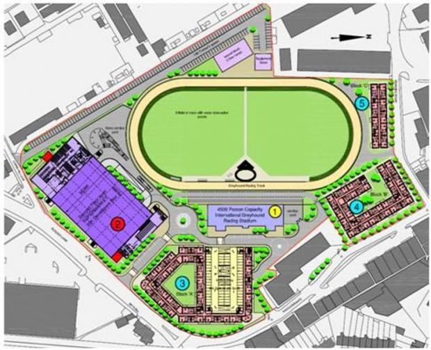 Master plan of new £60m stadium
