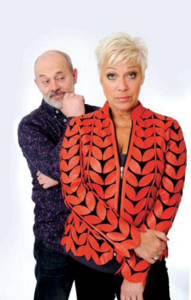 Keith Allen and Denise Welch starring in Smack Family Robinson at the Rose Theatre, Kingston