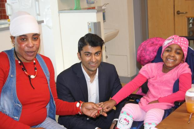 Azhar Siddique visited The Children's Trust in Tadworth