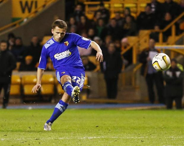 Almen Abdi's lovely free kick against Wolves earned him a place in the Championship Team of the week. Picture: Action Images