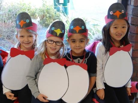 Penguins: Kindergarten children at ACS Cobham