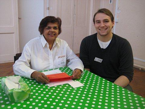This Is Local London: Committee members Saira Bohan-Croft and Luke Aylward give food parcels and lend a listening ear