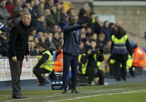 Kenny Jackett and Chris Powell. PICTURE BY ALAN STANFORD.