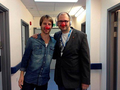 Chesney Hawkes and James Beckley, who is listening to The One and Only for 24 hours