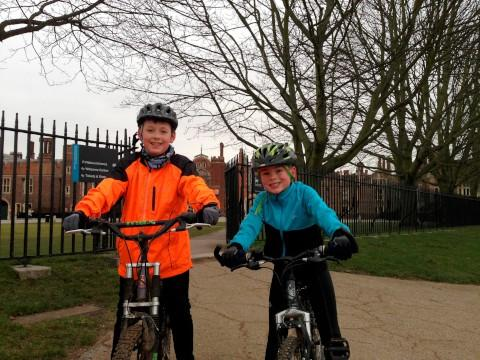 Good effort: Jack and Tom cycling for charity