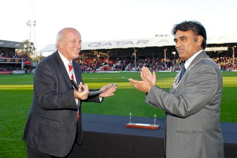 Congratulations: Greg Dyke at Brentford