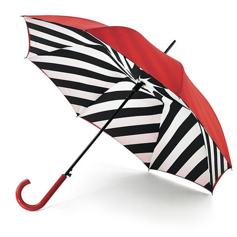 This Is Local London: STRIPY SHOWERS: Lulu Guinness Bloomsbury diagonal stripe umbrella, £40 (www.fultonumbrellas.com).