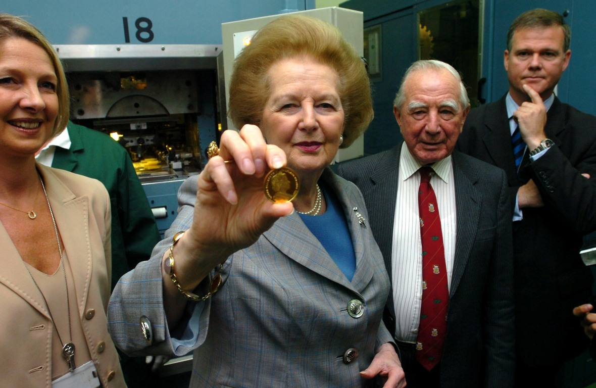 Falklands plan memorial coins for Baroness Thatcher
