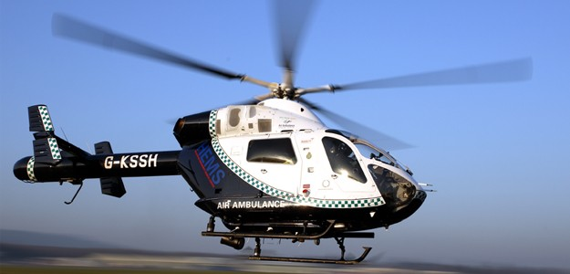 A Kent Surrey and Sussex air ambulance took the patient to hospital