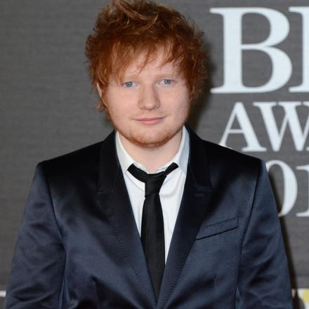 Ed Sheeran, who Luke Carey says is his biggest influence