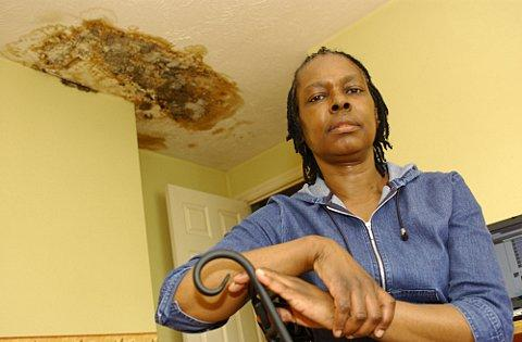 "This Is Local London: Gloria Hall says she can ""smell the mould"" from a three-year water leak from her neighbour's flat"
