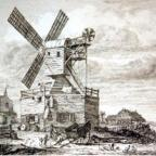 Wimbledon Windmill in its early years as an active supplier to the local community
