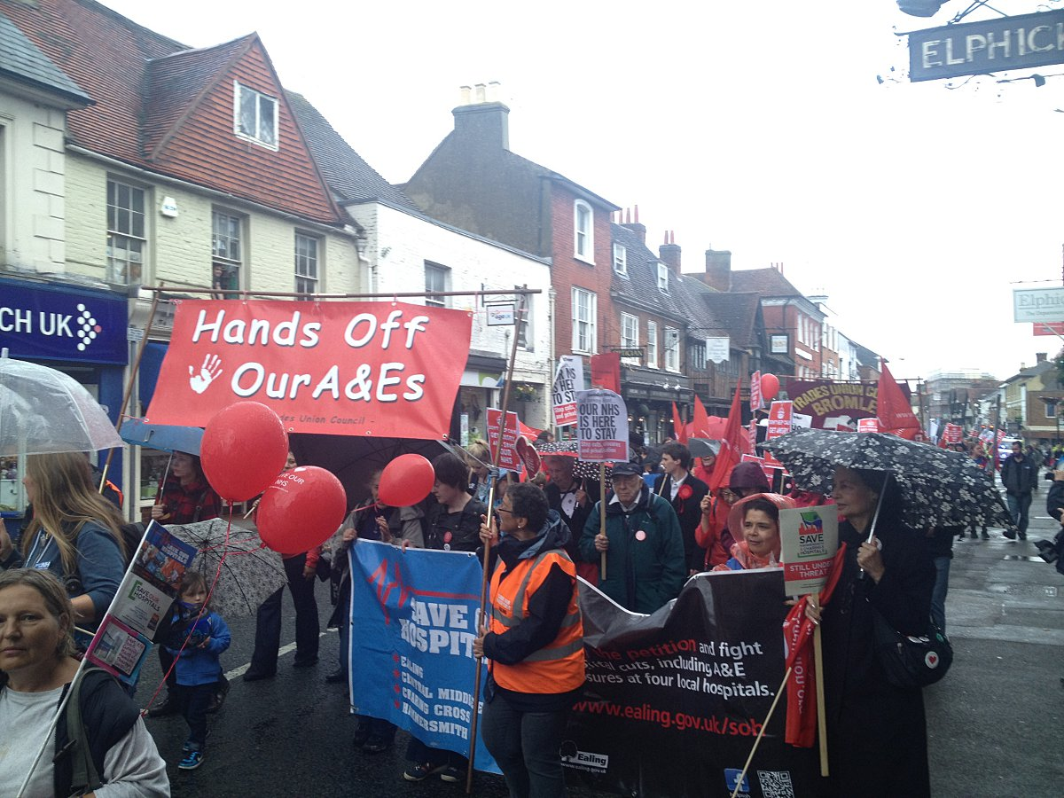 Save Lewisham Hospital campaigners take fight to Health Secretary's Surrey home town