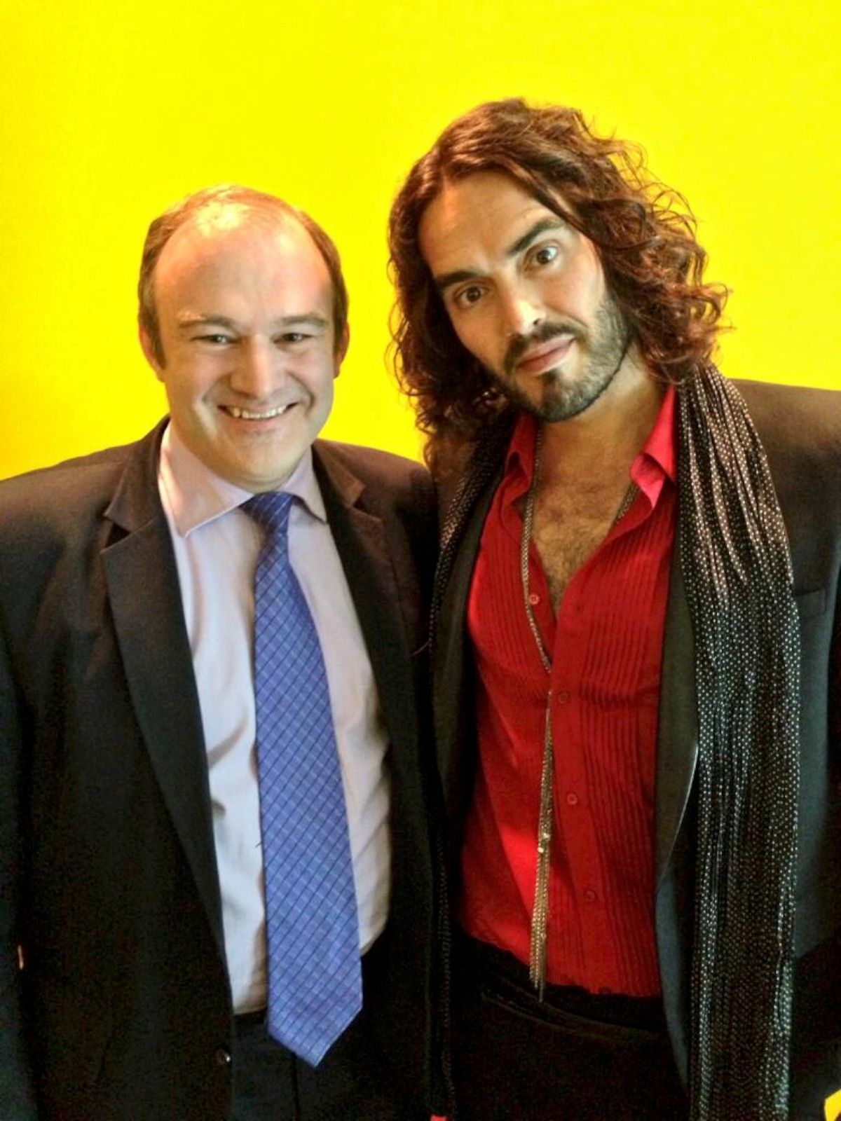 Edward Davey tweeted this picture of himself with comedian Russell Brand