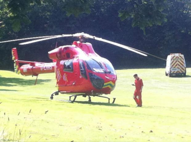 London Air Ambulance rescues man in Hillyfields (photo: Stephanie Field)