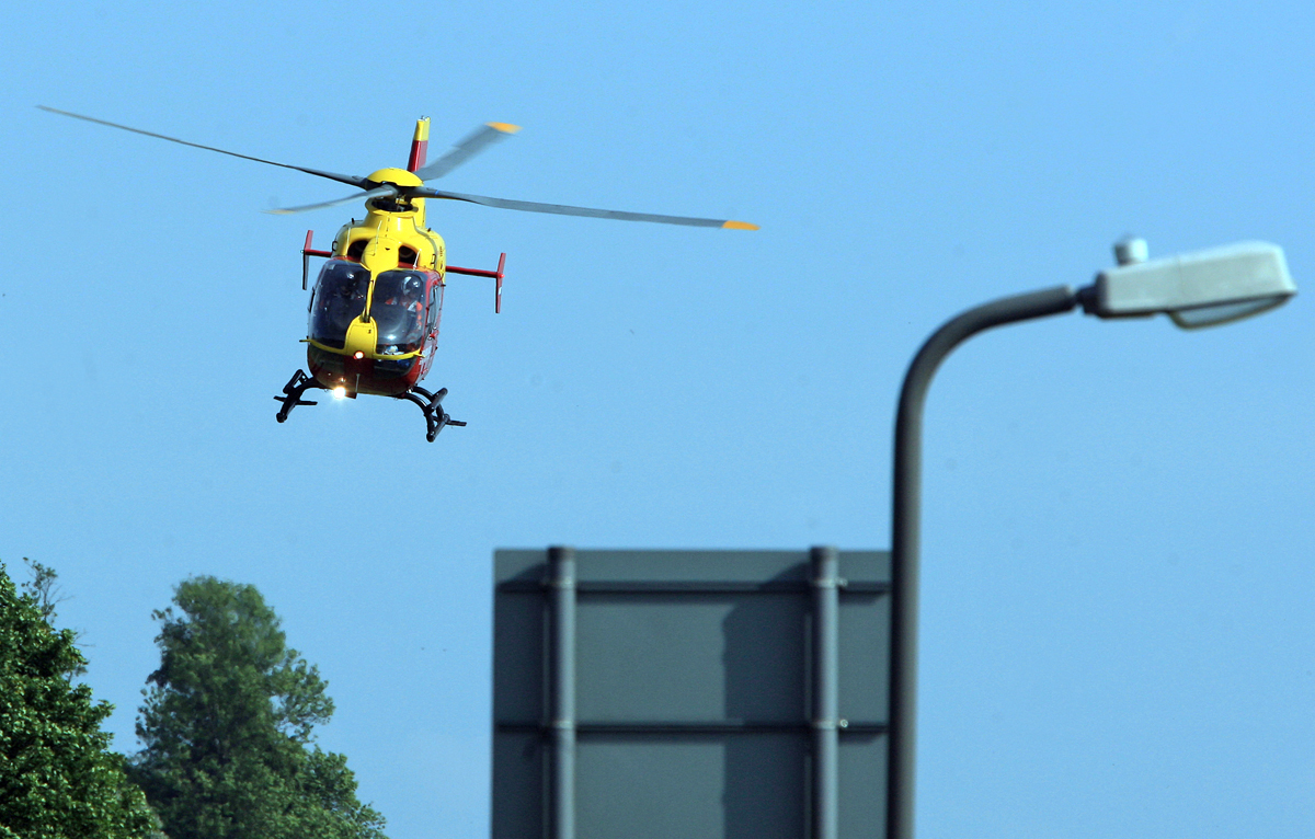 Air ambulance called to scene of crash