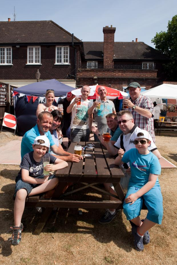 This Is Local London: Group enjoy the sunshine at the Great Welling Beer Festival