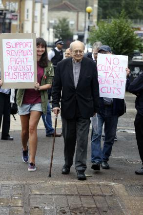 Reverend Paul Nicolson has organised a protest against welfare cuts