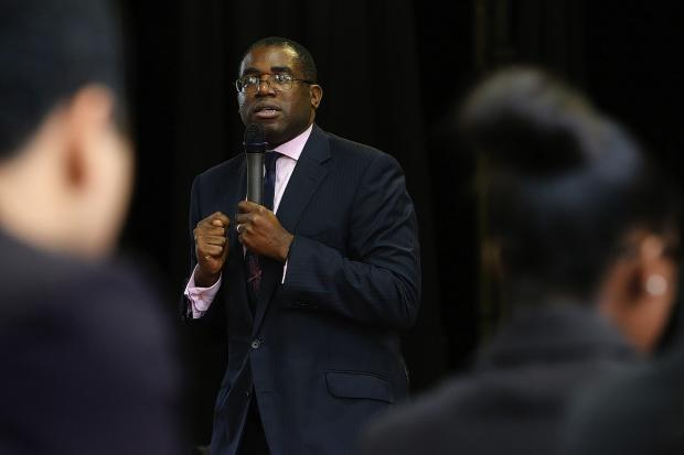 David Lammy said Mr Farage's comments 'make it clear he's a racist'