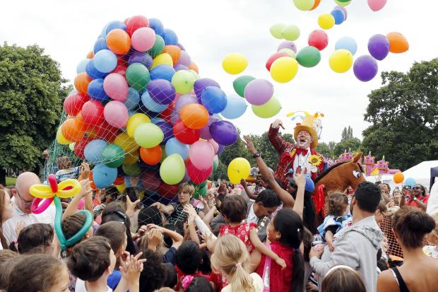 A balloon release at last years National Playday