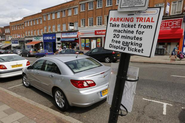 Last year's free parking trial took place in Rayners Lane