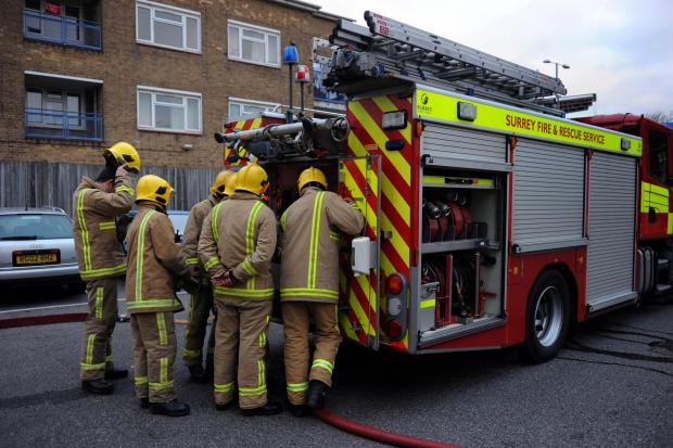 Epsom firefighters carry out training at Epsom fire station