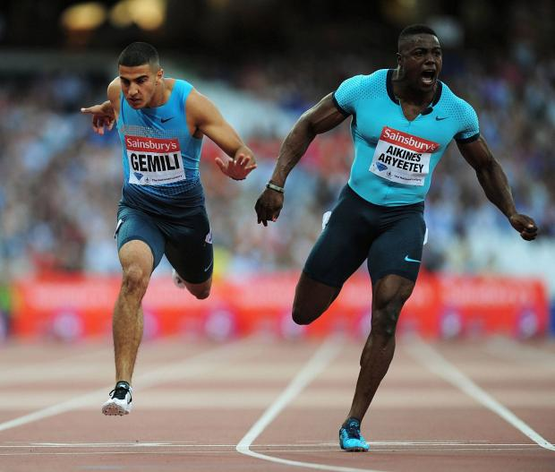 Downbeat: Harry Aikines-Aryeetey was disqualified for jumping the gun in the 60m British indoor semi-finals