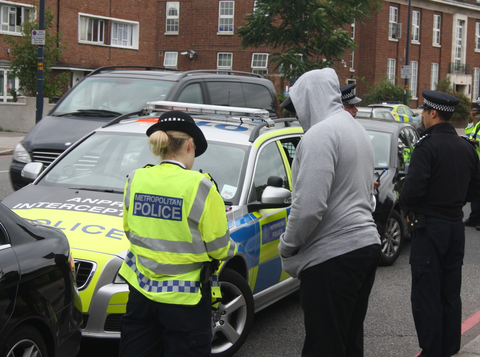 Police in London, Essex and Kent stopped hundreds of cars on Wednesday