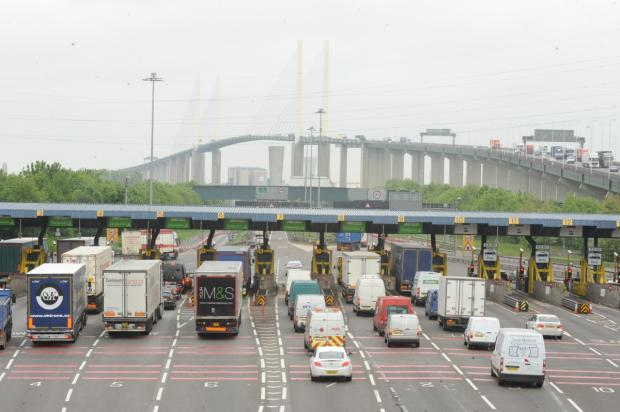 Thirteen suspected ilegal immigrants reportedly discovered in lorry at Dartford Crossing
