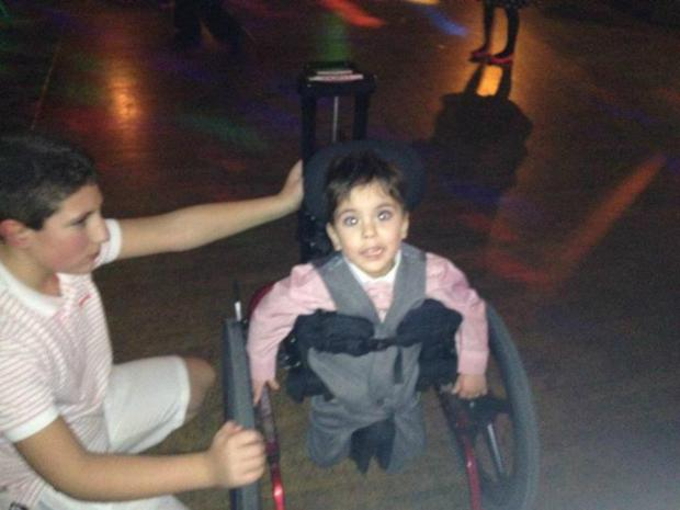 Lukas Riley, 3, who has cerebral palsy, was enjoying himself at the event last weekend