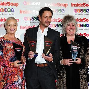 It was a good night for Emmerdale cast members Lesley Dunlop, Dominic Power and Jane Cox at the Inside Soap Awards