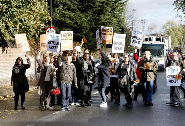 This Is Local London: Protesters outside the Haringey's probation service