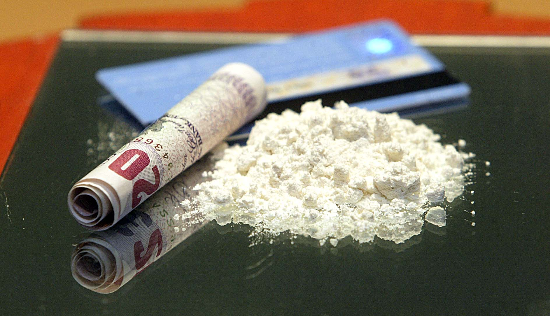 Several wraps of cocaine were found during the raid in