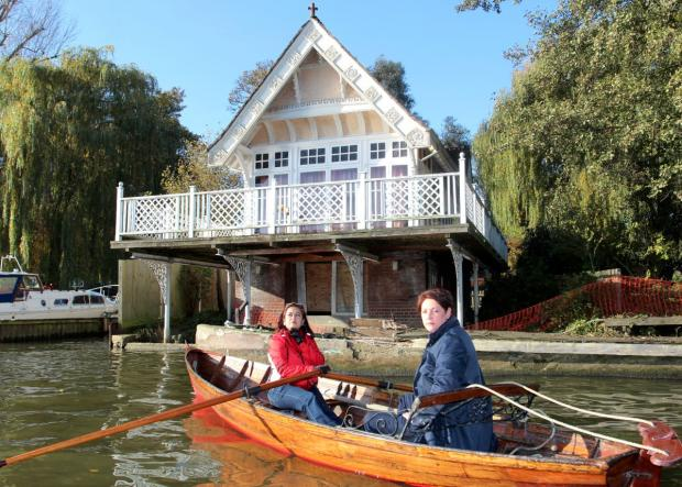 Rowing fond: People want to maintain the building on the riverside