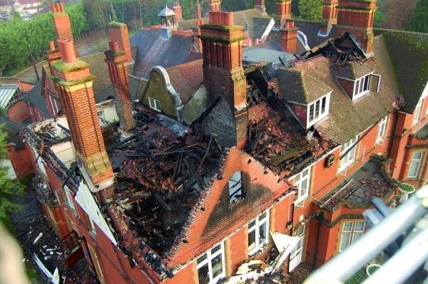 Ewell Court House was significantly damaged by fire in December