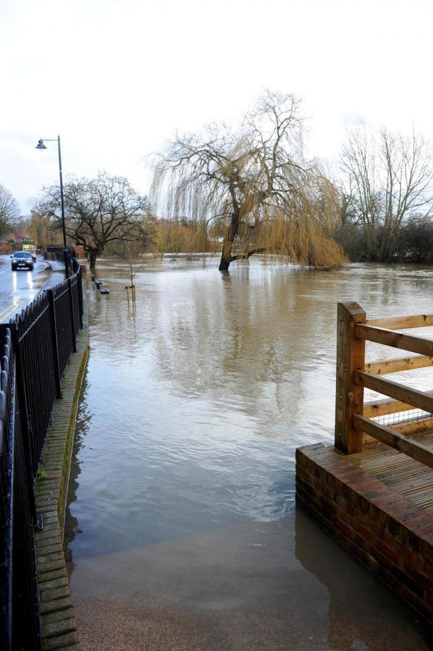 This Is Local London: Receding at last: Cobham endured some of the worst floods of recent years