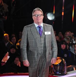 Jim Davidson arrives at the Celebrity Big Brother House