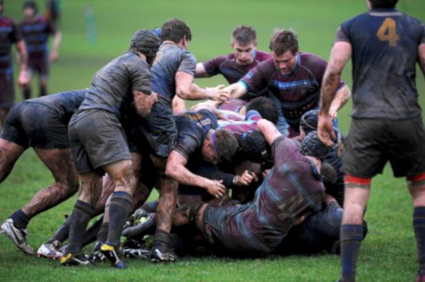 This Is Local London: Muddy hell: In horrendous conditions, Wimbledon could not overcome Cobham in London Division One South     All pictures:   SP81969
