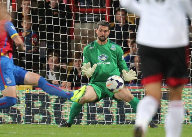 This Is Local London: Putting pen to paper: Julian Speroni has impressed Tony Pulis since his arrival