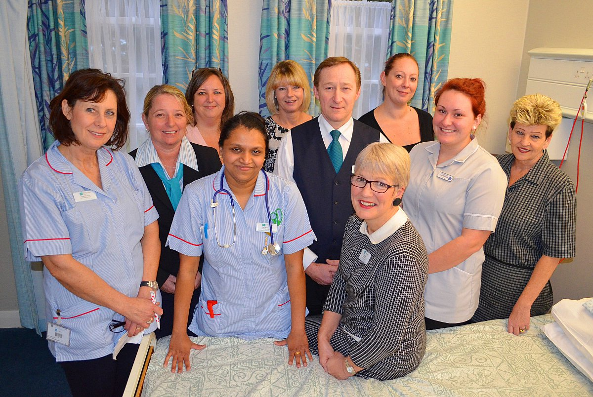 BMI Fawkham Manor Hospital executive director Valerie Power with her team