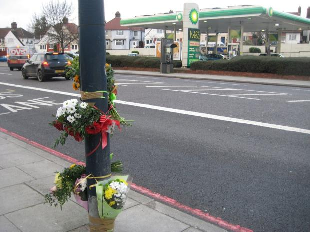 This Is Local London: Flowers and tributes left at the scene of the crash