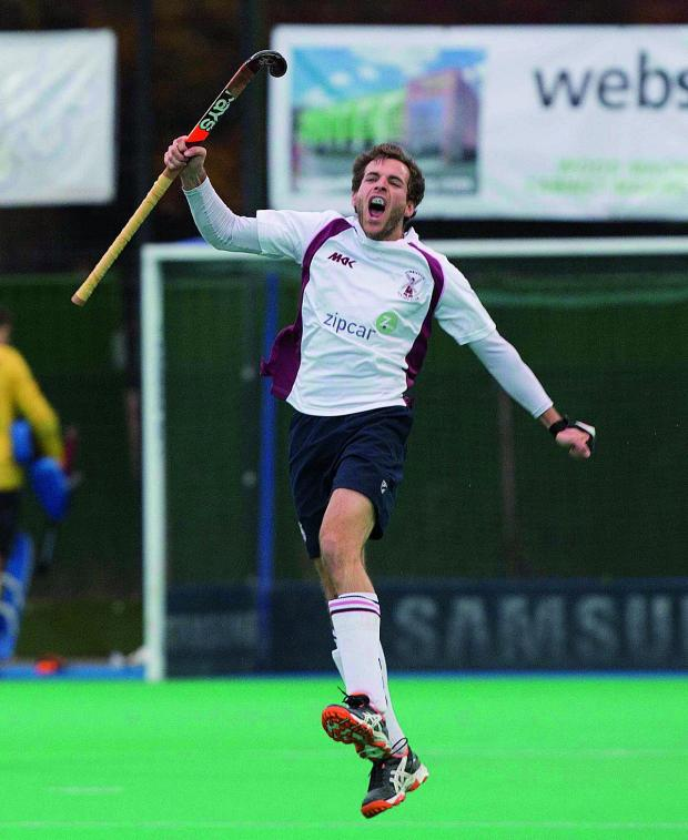 This Is Local London: Roaring back: Wimbledon Hockey Club's Alistair Brogdon