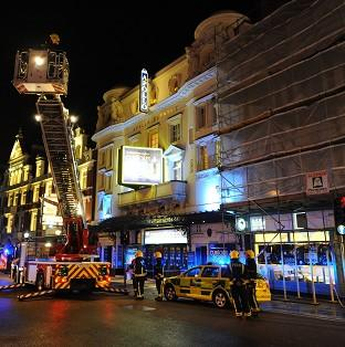 The celing collapsed at the Apollo Theatre in December 2013
