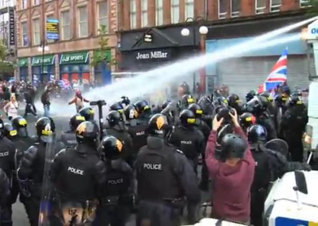 Water Cannon in use in Northern Ireland