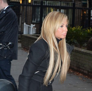Former X Factor judge Tulisa Contostavlos arrives at Southwark Crown Court