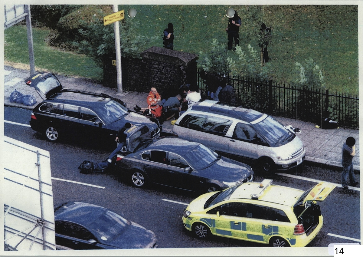 The scene of the 'hard stop' in Ferry Lane, Tottenham, when Mark Duggan was killed