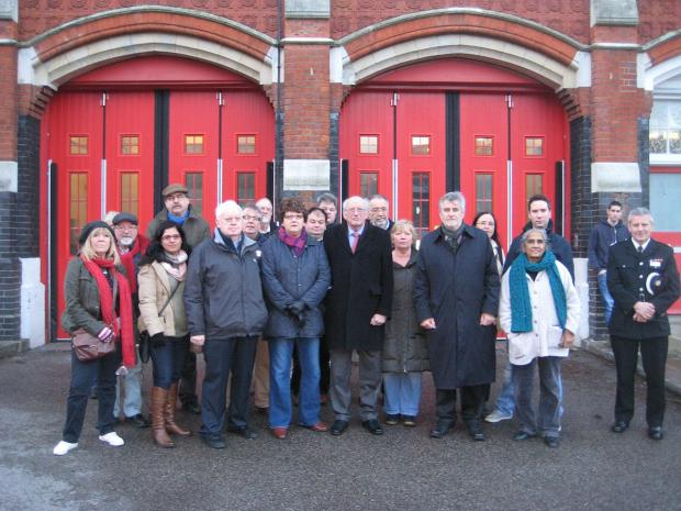 This Is Local London: Vigil held at Woolwich fire station