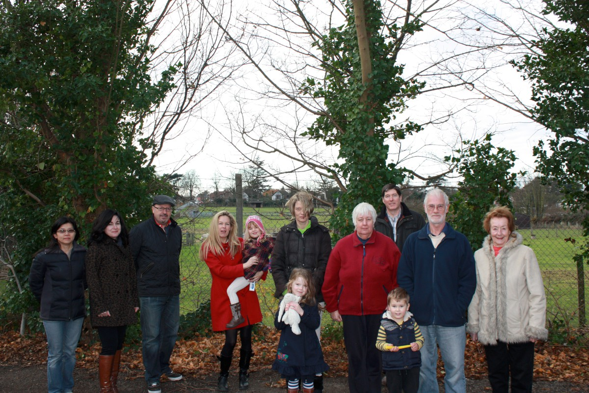 Residents in St Norman's Way are worried about the development proposed by Nescot