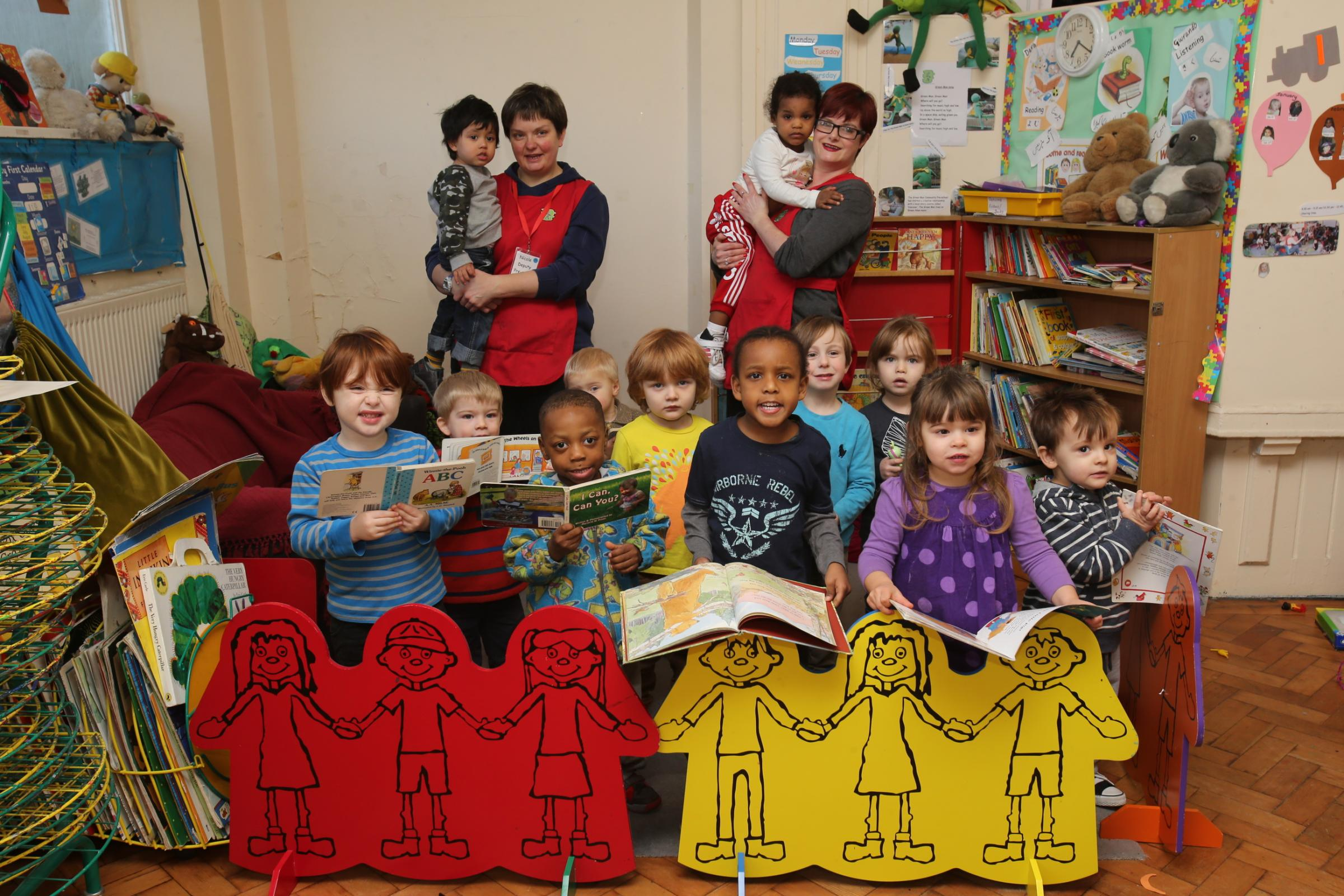 Children celebrating at the pre-school this week.